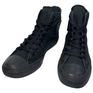 Converse Size 7 Black on Black Chuck Taylor All Star High Top Sneakers